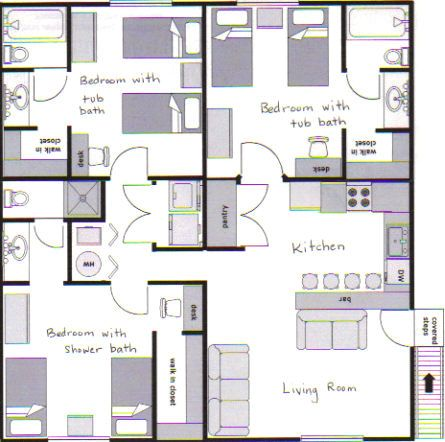 Apartment layout stonebrook apartments for Apartments layout